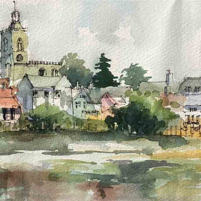 Across the mere to Diss by Penny Newman