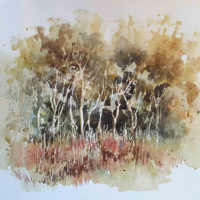 Autumn trees at Wells by Penny Newman