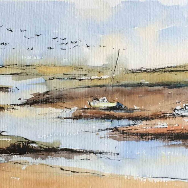 Boates at Brancaster Staithe by Penny Newman