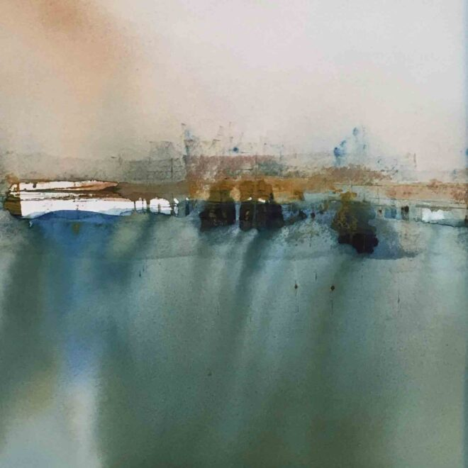 Boats at harbour by Penny Newman