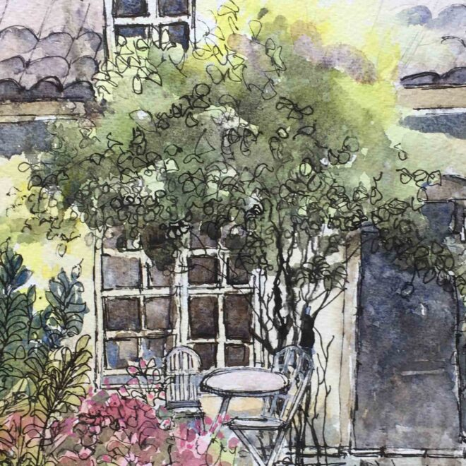 Cottage Garden by Penny Newman