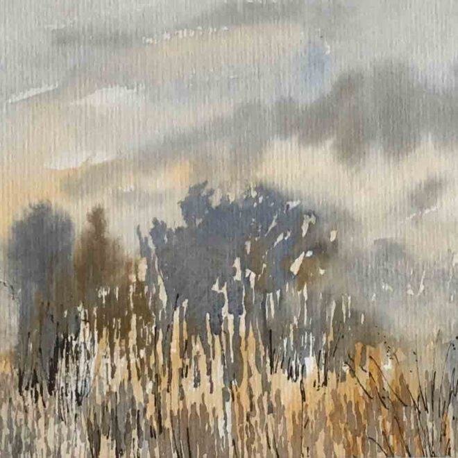 Cottage by the marshes by Penny Newman