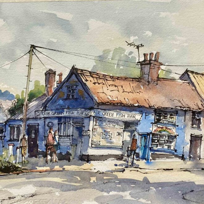 Diss fish and chip shop by Penny Newman