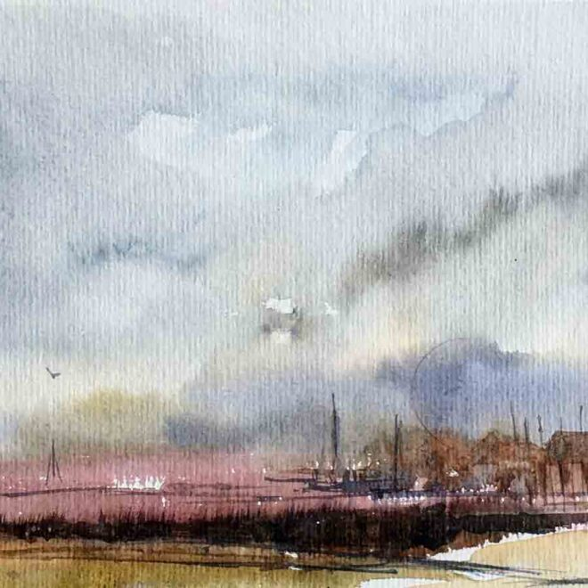 Evening at Wells by Penny Newman