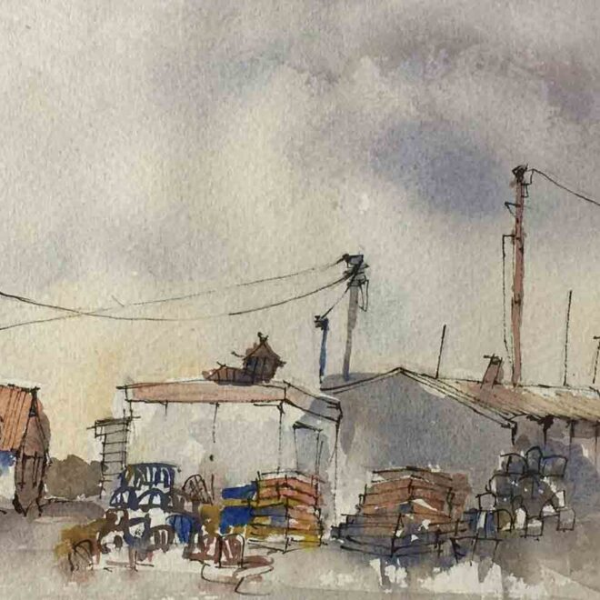 Fishermen sheds by Penny Newman