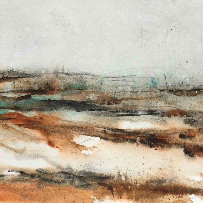 Gale on Norfolk coast by Penny Newman