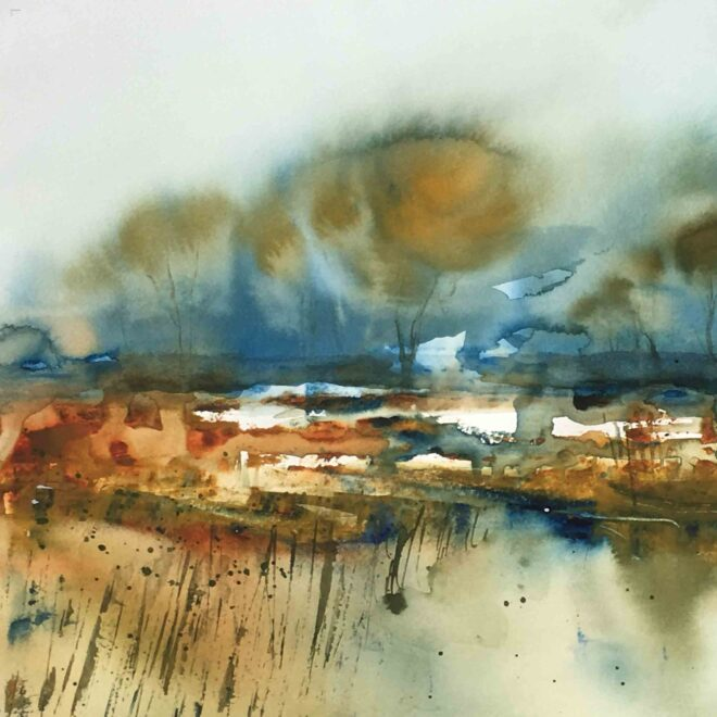 Lackford trees by Penny Newman