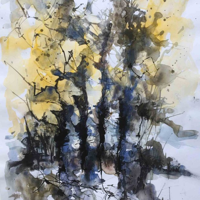 Newmarket heathland trees 1 by Penny Newman