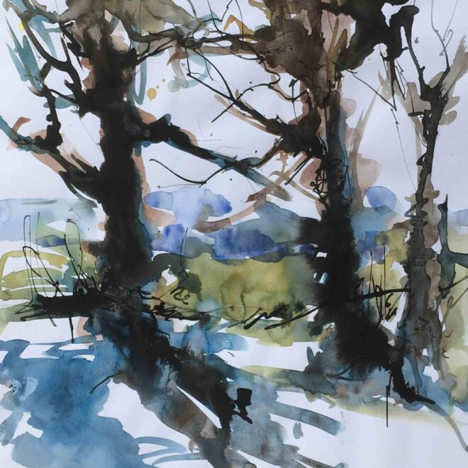 Newmarket heathland trees 2 by Penny Newman