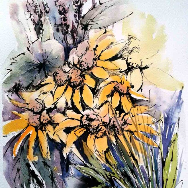 Painting in the sun by Penny Newman