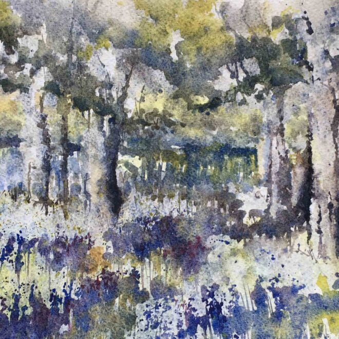 SOLD Rainy bluebells by Penny Newman