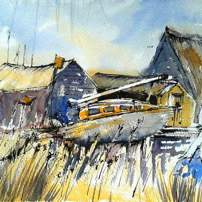 Southwold boat house by Penny Newman