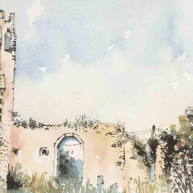 St Andrew's ruined church, Roudham by Penny Newman