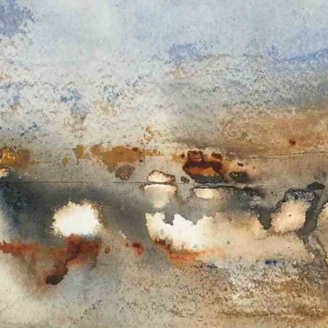 Sunset at Lackford by Penny Newman