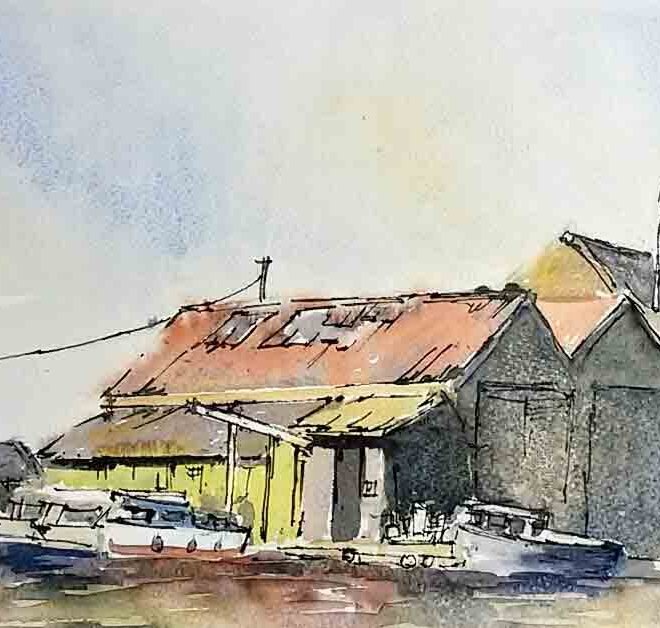 The green boathouse by Penny Newman