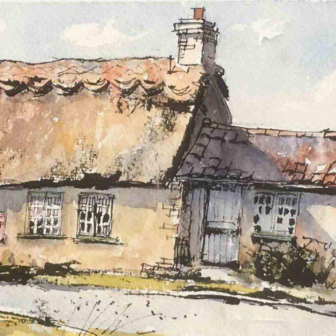 The old Post Office, Gasthorpe by Penny Newman