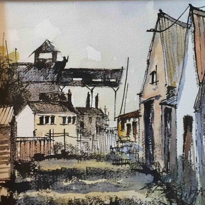 The old whelk sheds, Wells by Penny Newman