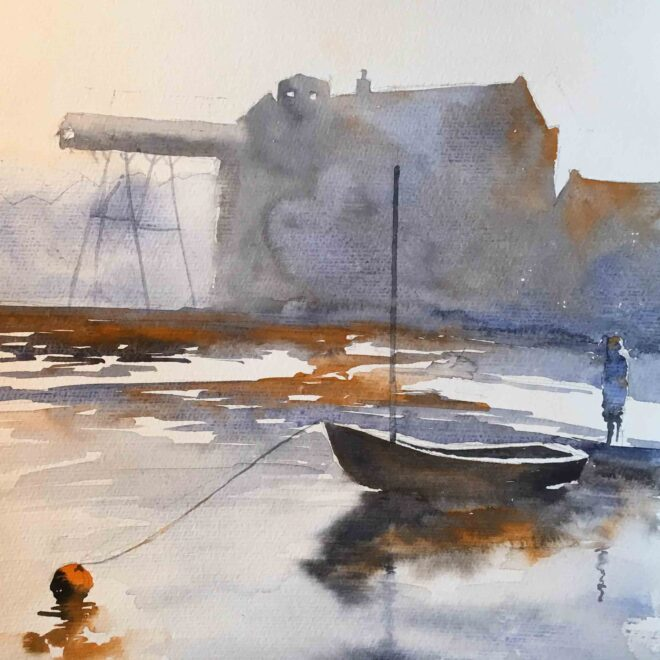 The orange buoy by Penny Newman
