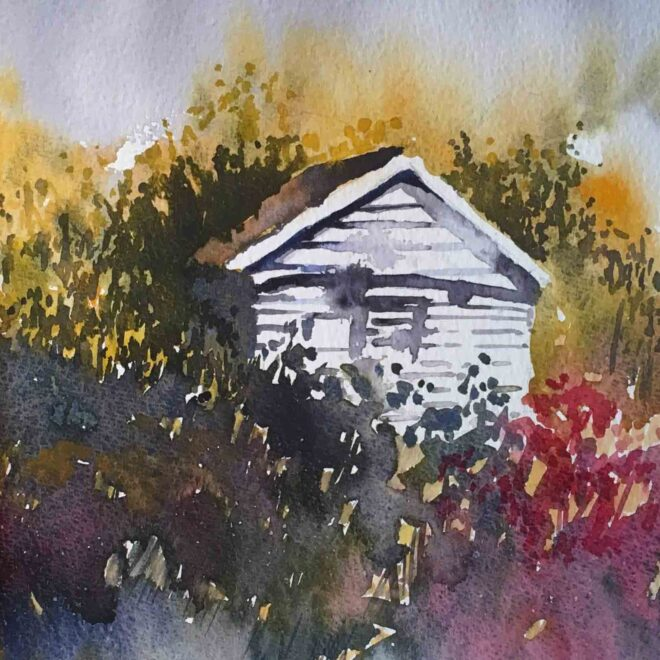 The white shed by Penny Newman