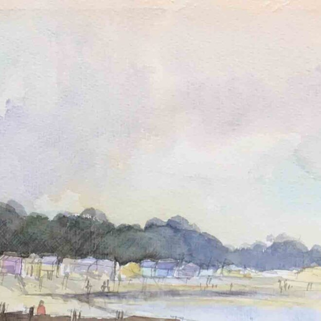 SOLD Wells beach huts by Penny Newman