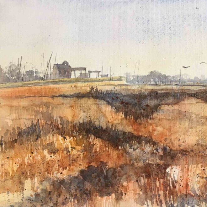 SOLD Wells from the marshes by Penny Newman