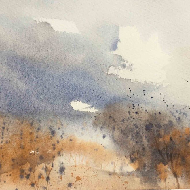 Windy day at West Stow by Penny Newman